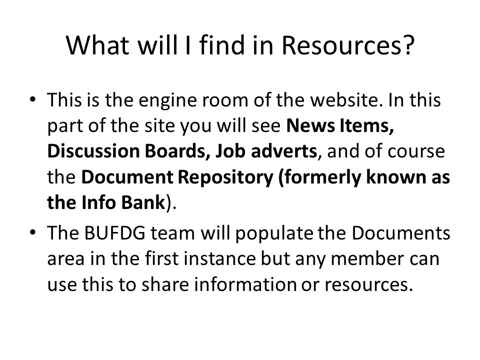 What will I find in Resources