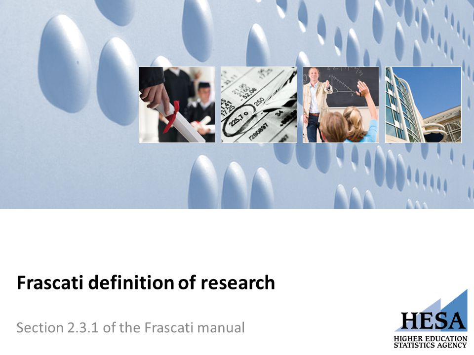 Frascati definition of research