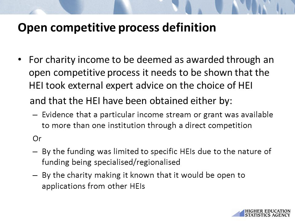 Open competitive process definition