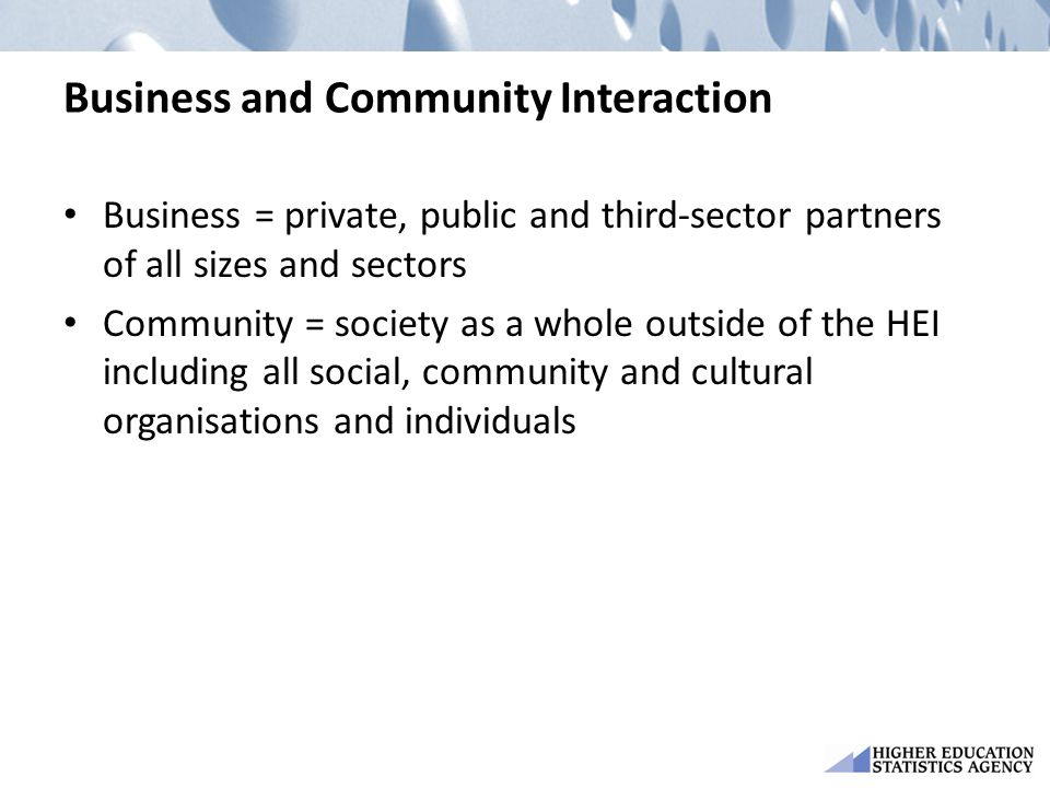 Business and Community Interaction