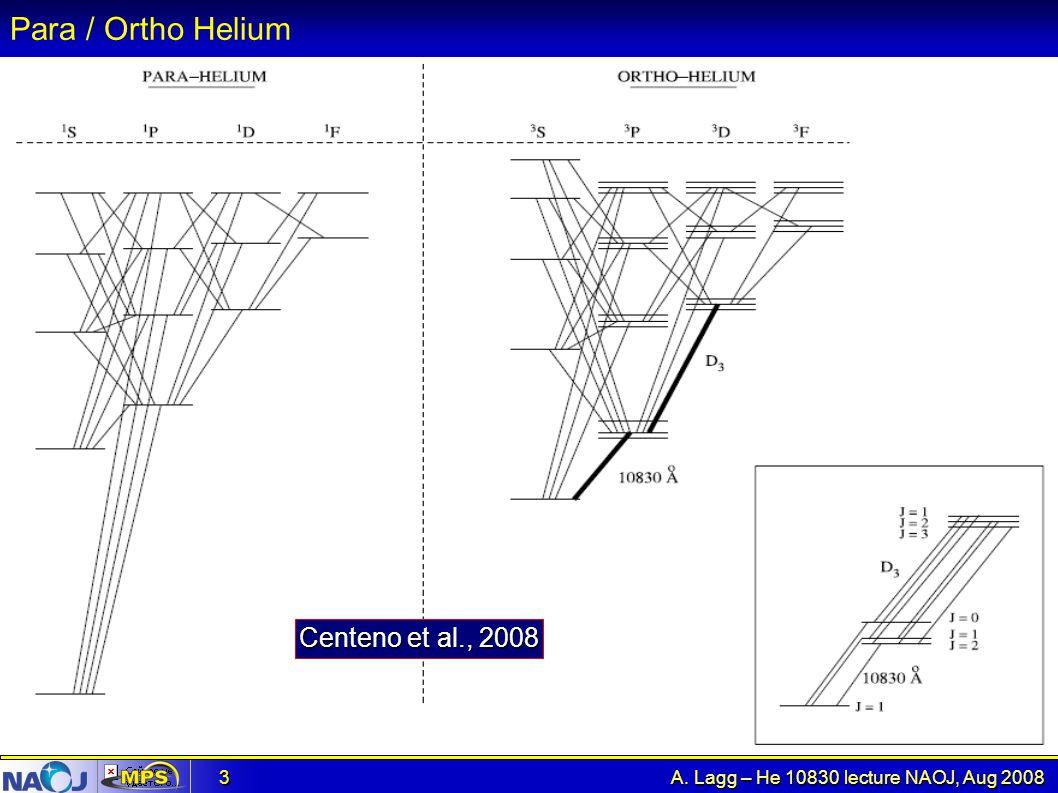Para / Ortho Helium Centeno et al., 2008