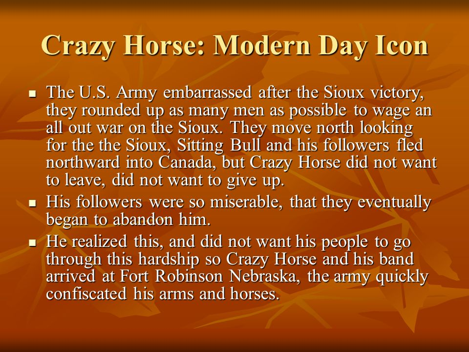 Crazy Horse: Modern Day Icon