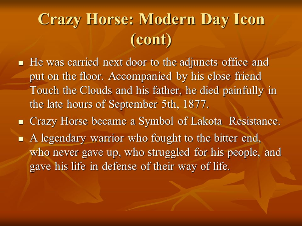 Crazy Horse: Modern Day Icon (cont)