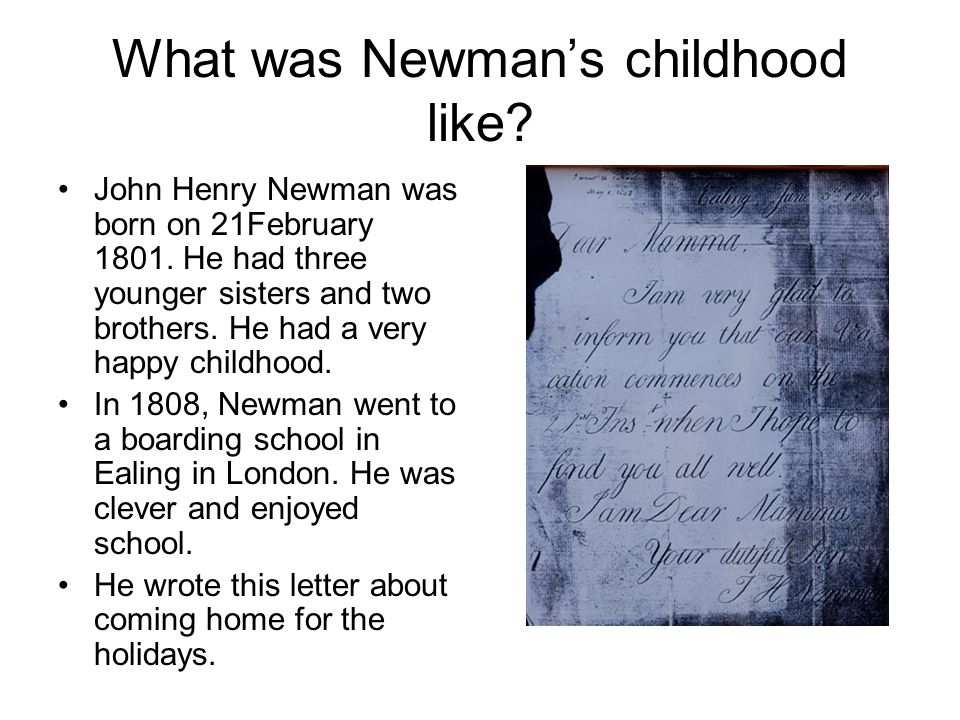 What was Newman's childhood like