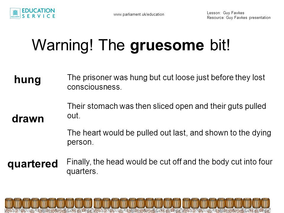 Warning! The gruesome bit!