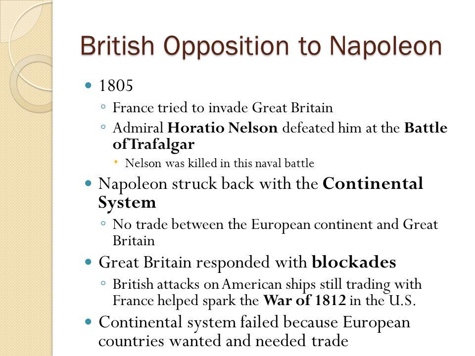 British Opposition to Napoleon