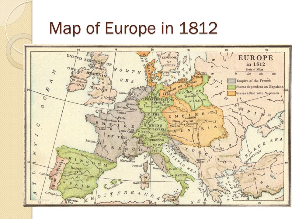 Map of Europe in 1812