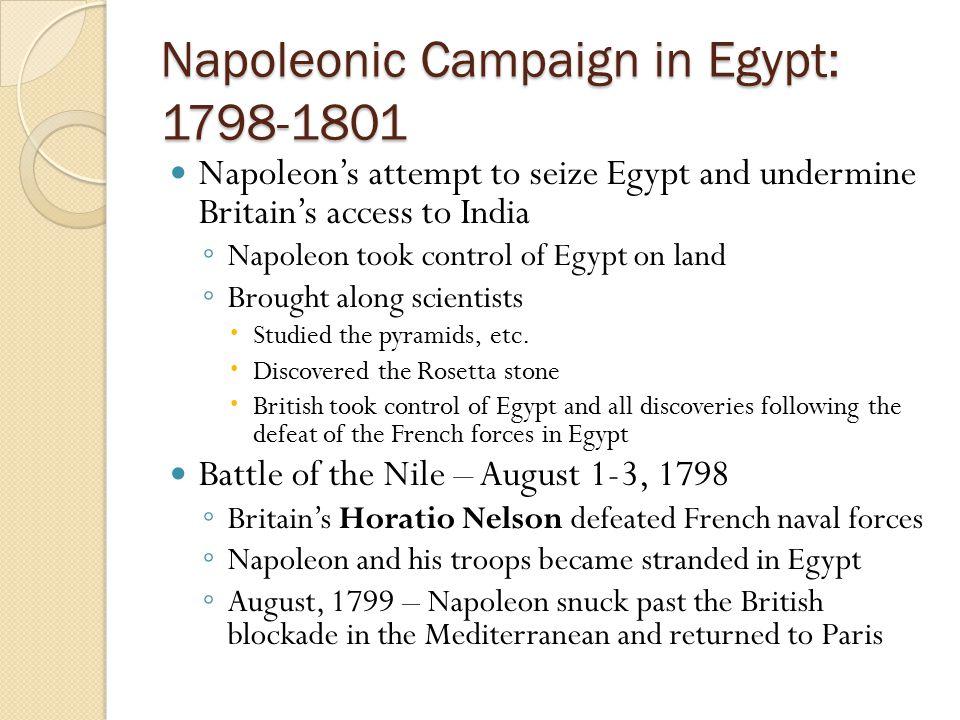 Napoleonic Campaign in Egypt: 1798-1801