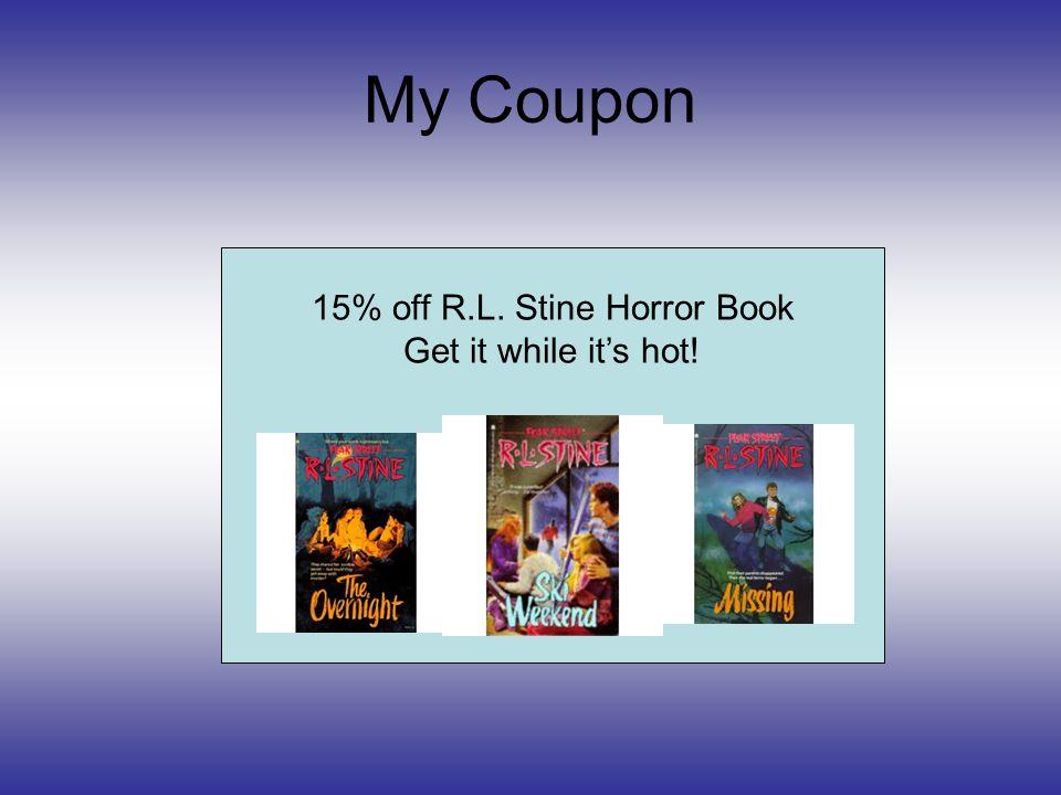 15% off R.L. Stine Horror Book