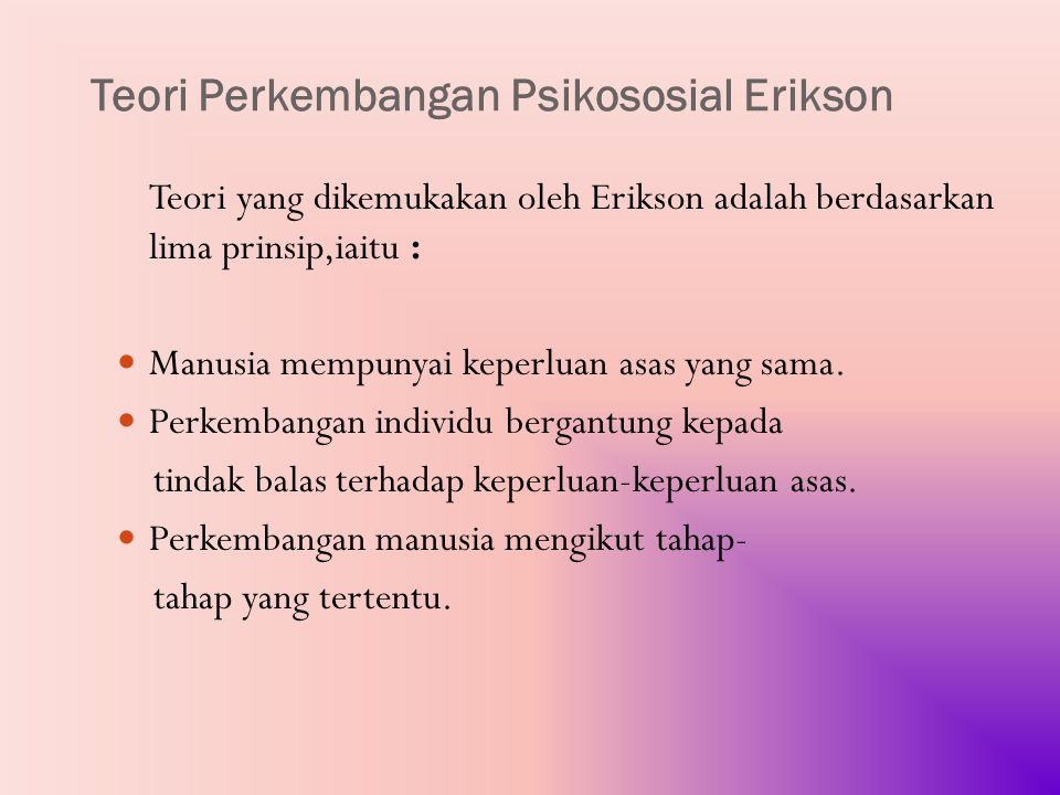 Teori Perkembangan Psikososial Erikson