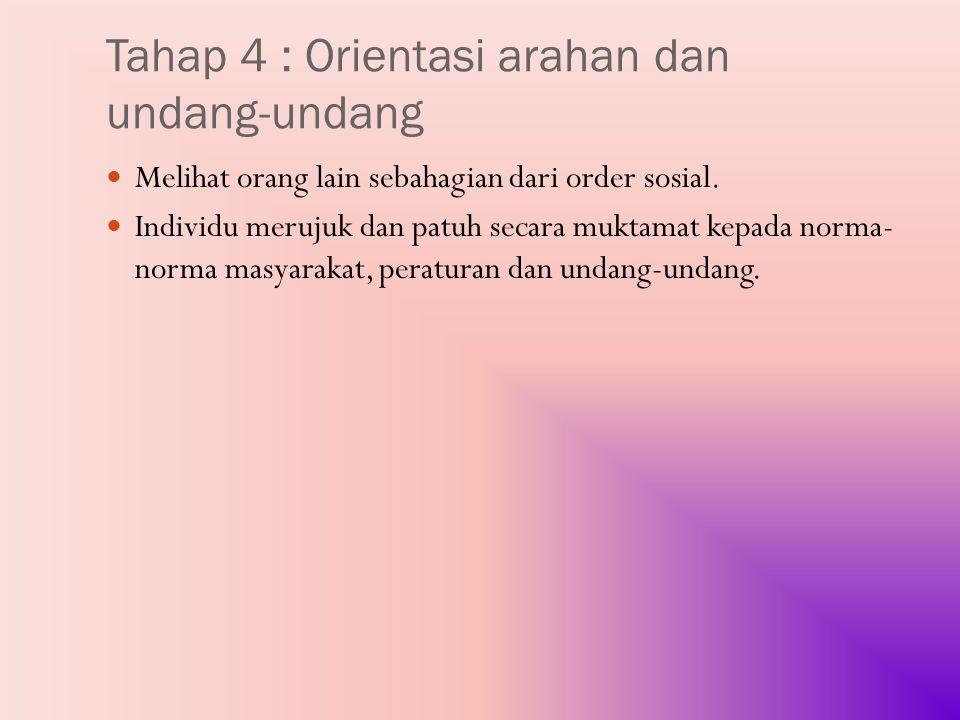 Tahap 4 : Orientasi arahan dan undang-undang