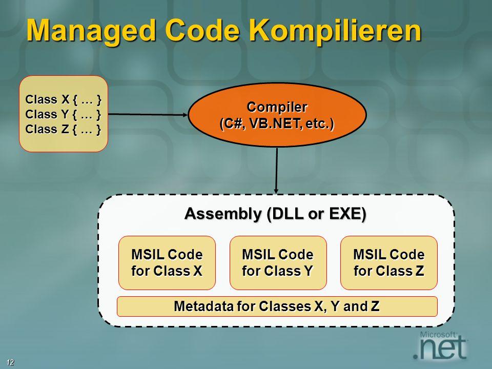 Managed Code Kompilieren