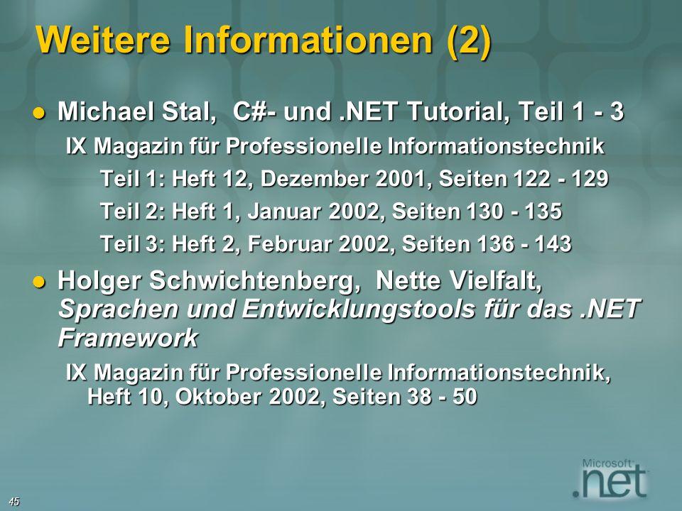Weitere Informationen (2)