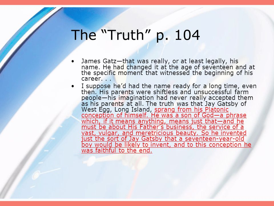 The Truth p. 104