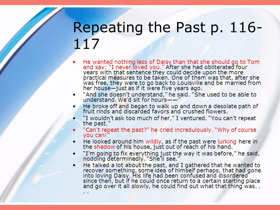 Repeating the Past p. 116-117