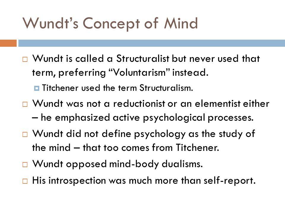 Wundt's Concept of Mind