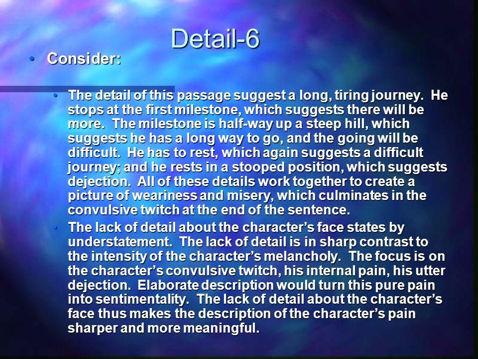 Detail-6 Consider: