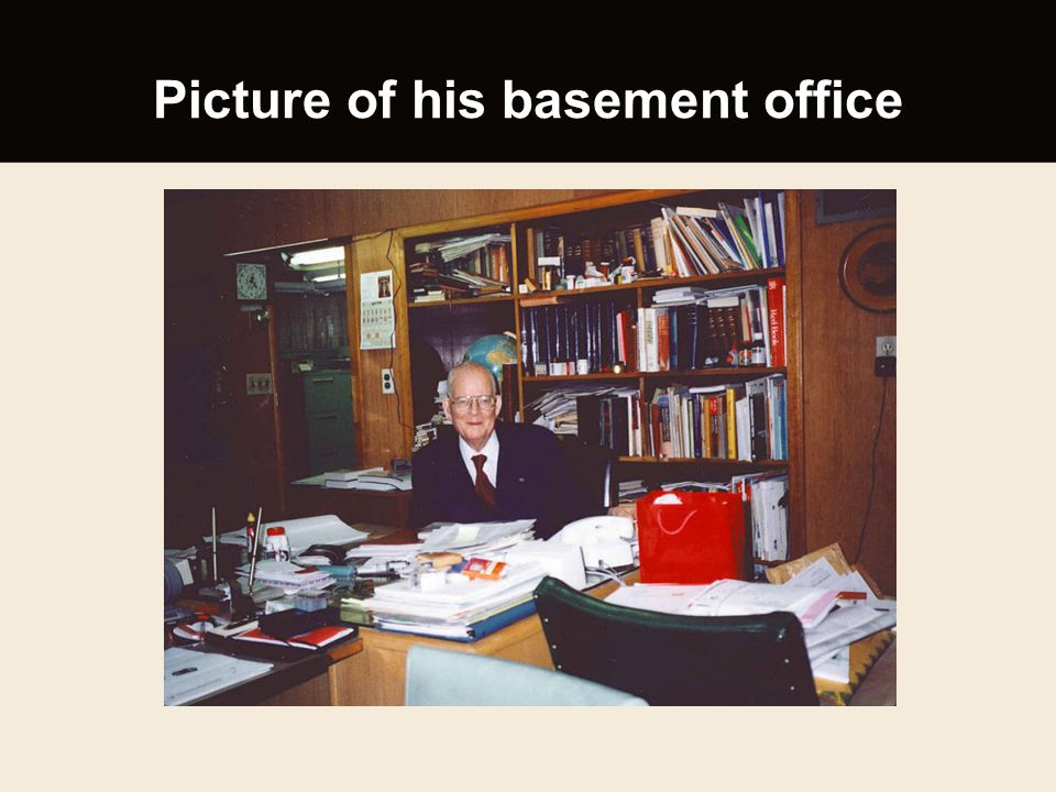 Picture of his basement office