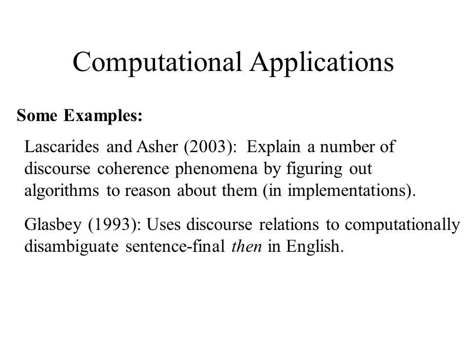Computational Applications