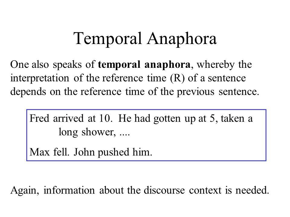 Temporal Anaphora