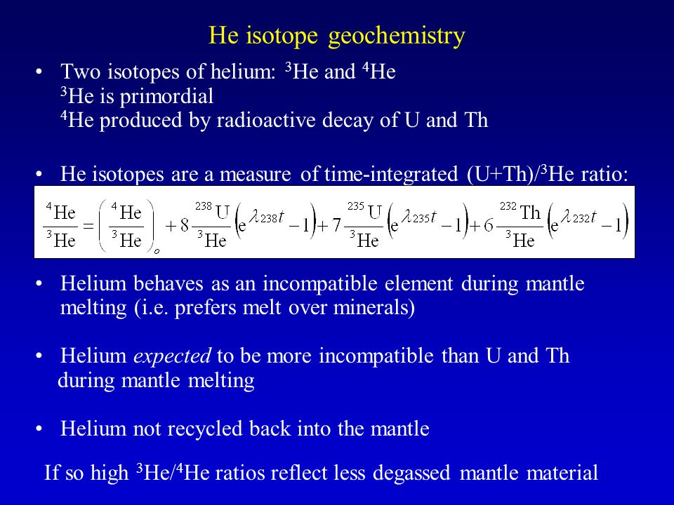He isotope geochemistry