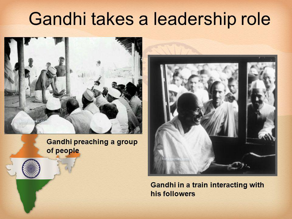 Gandhi takes a leadership role