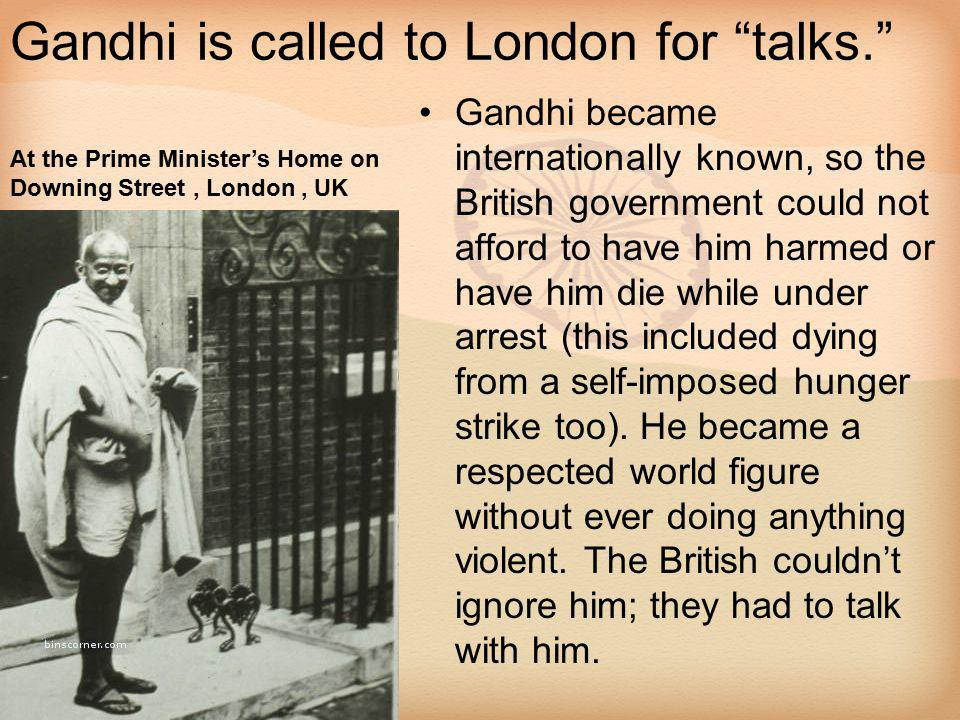 Gandhi is called to London for talks.