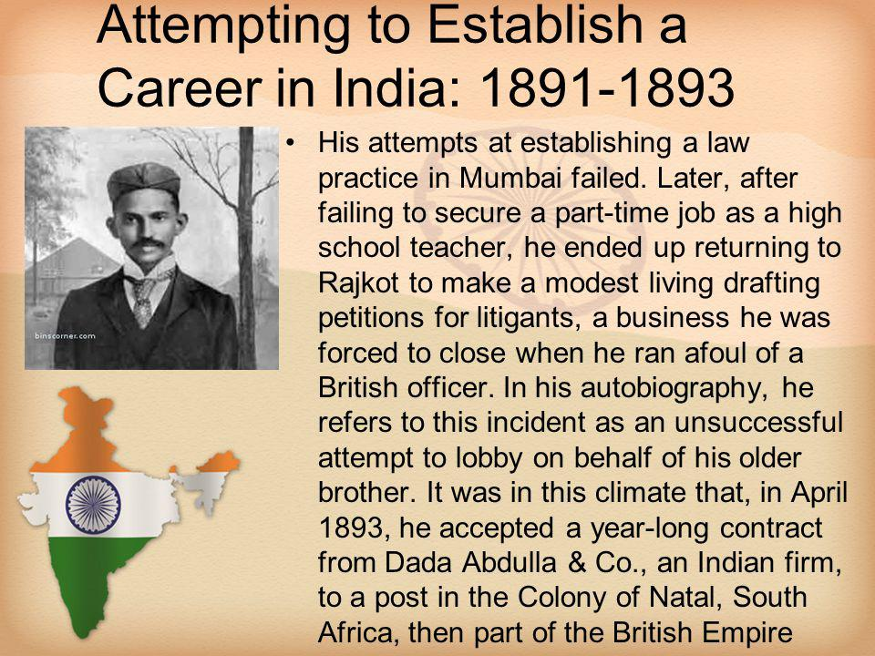 Attempting to Establish a Career in India: 1891-1893