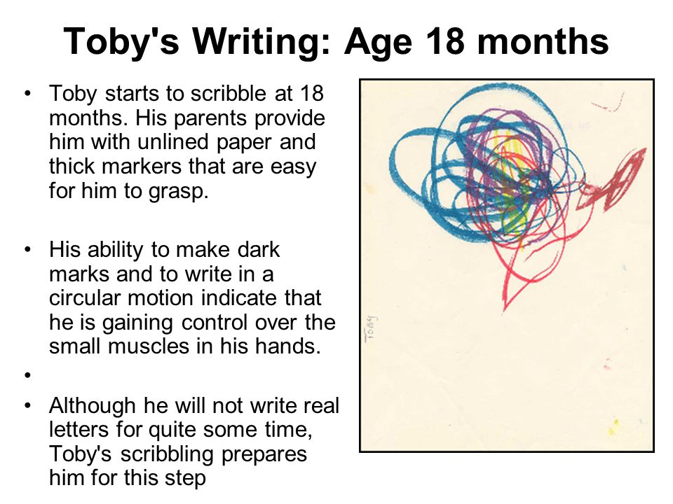 Toby s Writing: Age 18 months