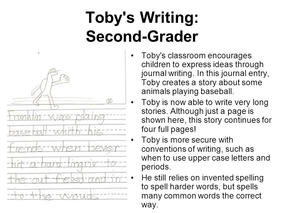 Toby s Writing: Second-Grader