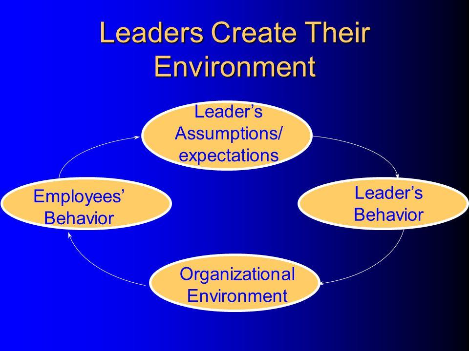 Leaders Create Their Environment