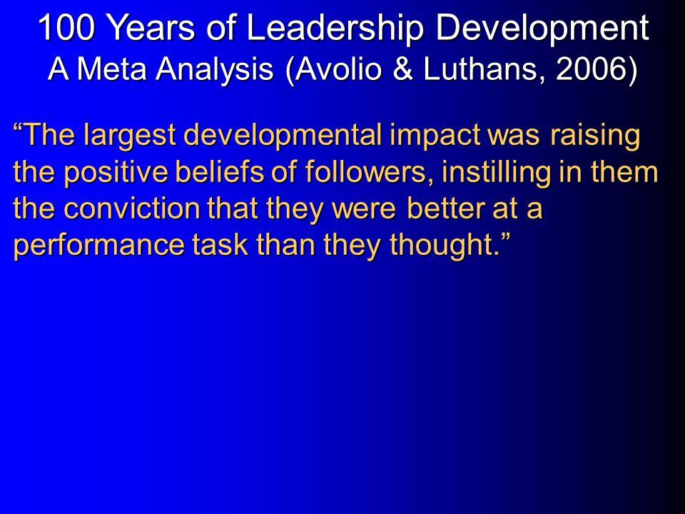 100 Years of Leadership Development A Meta Analysis (Avolio & Luthans, 2006)