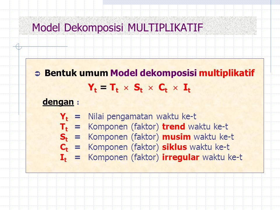 Model Dekomposisi MULTIPLIKATIF