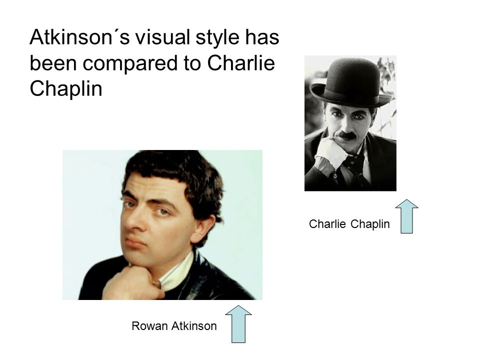 Atkinson´s visual style has been compared to Charlie Chaplin