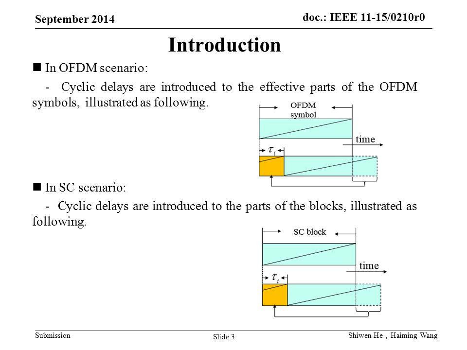 Introduction In OFDM scenario: