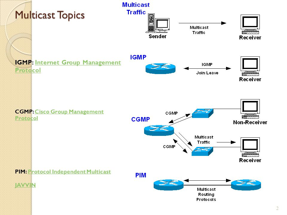Multicast Topics IGMP: Internet Group Management Protocol