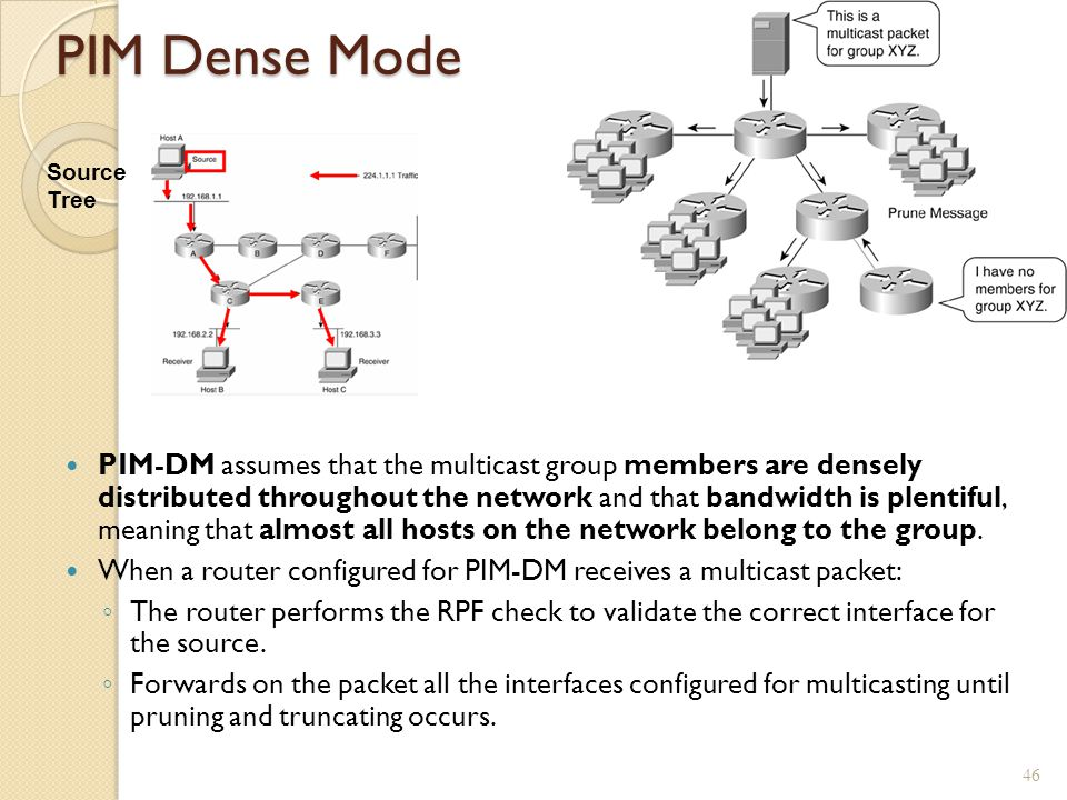 PIM Dense Mode Source Tree.