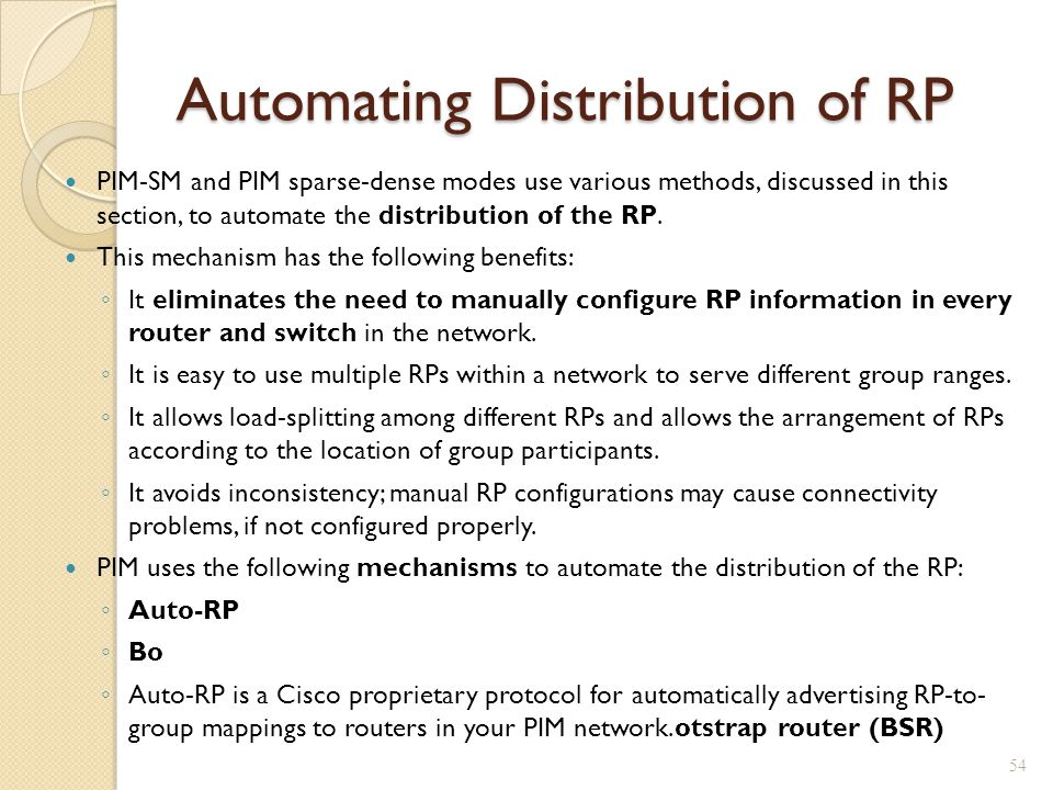 Automating Distribution of RP