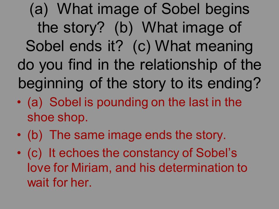 (a) What image of Sobel begins the story