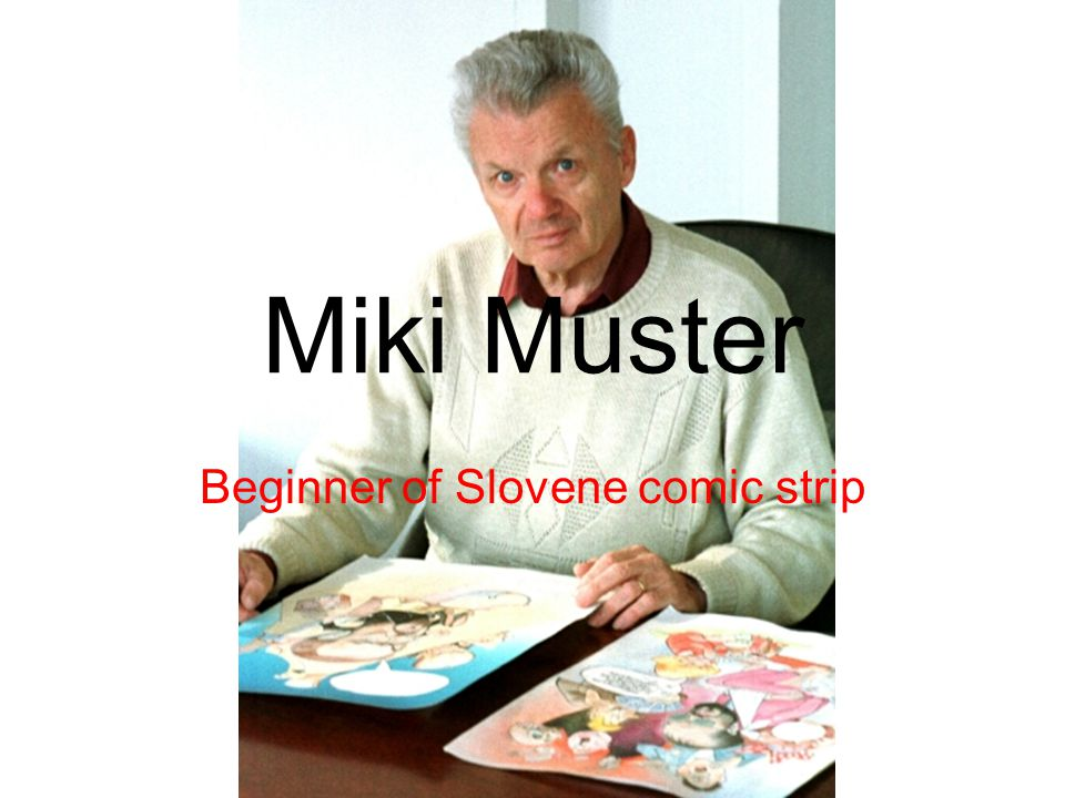 Beginner of Slovene comic strip