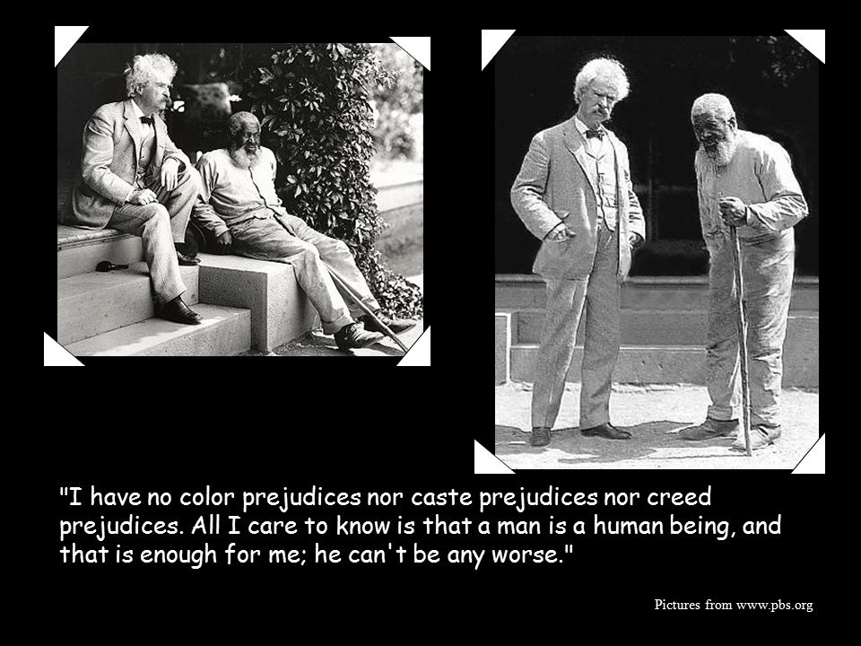 Mark Twain's quote about the controversy over HF.