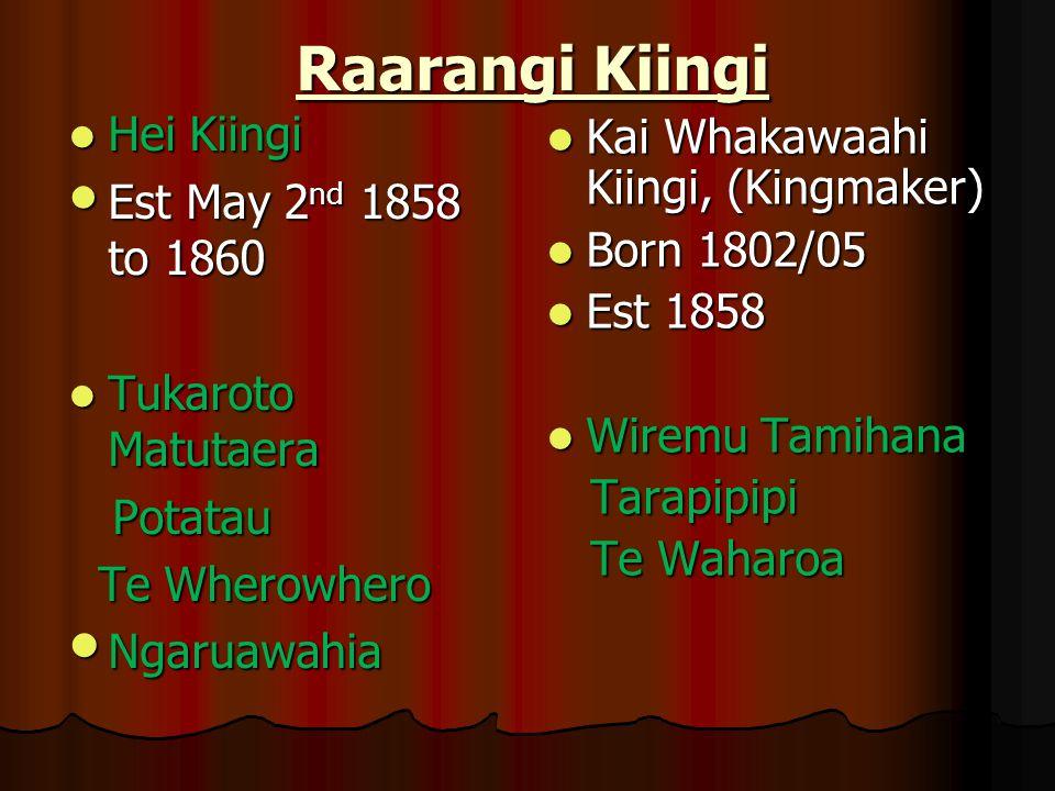 Raarangi Kiingi Hei Kiingi Kai Whakawaahi Kiingi, (Kingmaker)