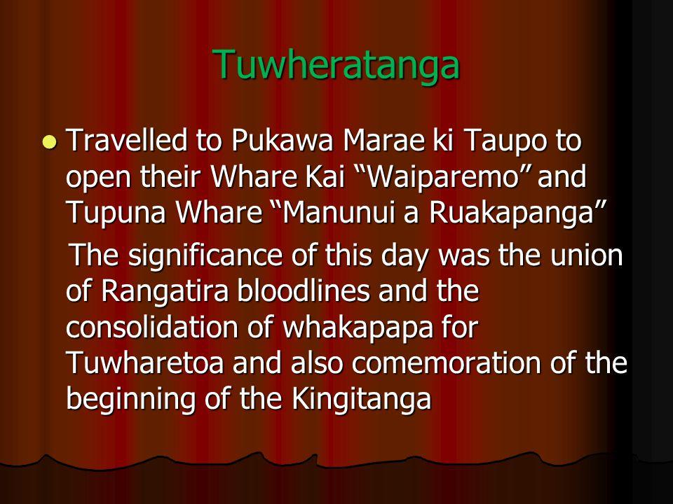 Tuwheratanga Travelled to Pukawa Marae ki Taupo to open their Whare Kai Waiparemo and Tupuna Whare Manunui a Ruakapanga