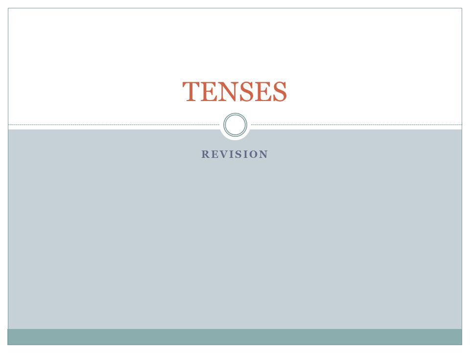 TENSES Revision