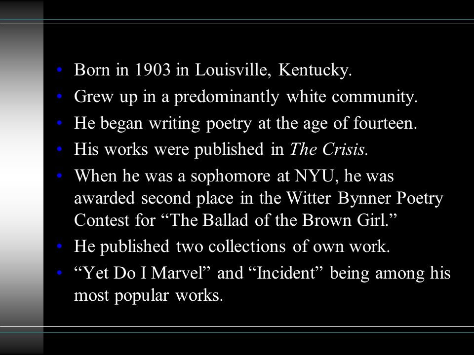 Born in 1903 in Louisville, Kentucky.
