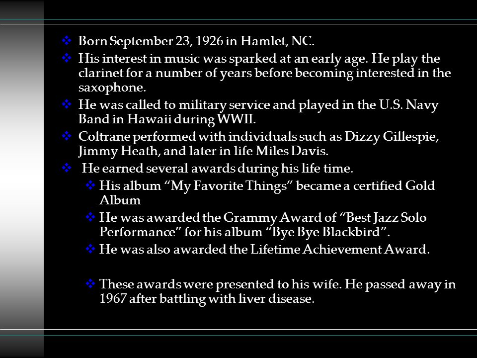 Born September 23, 1926 in Hamlet, NC.