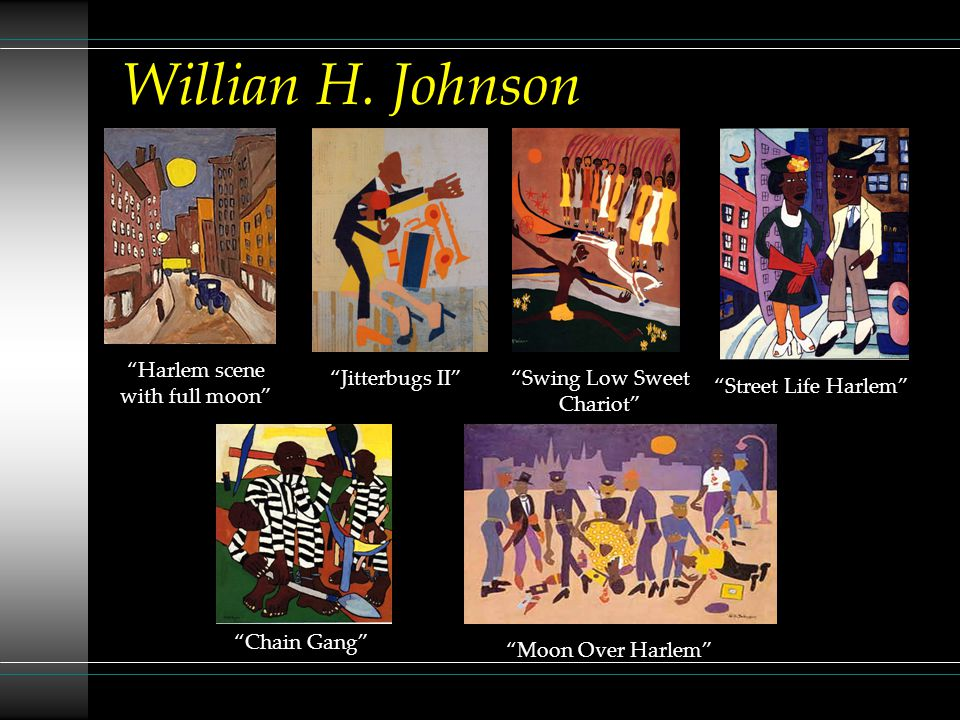 Willian H. Johnson Harlem scene with full moon Jitterbugs II