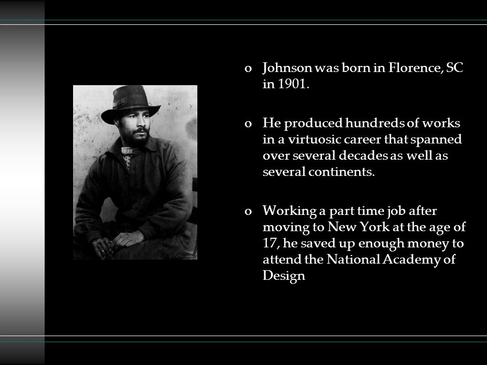 Johnson was born in Florence, SC in 1901.