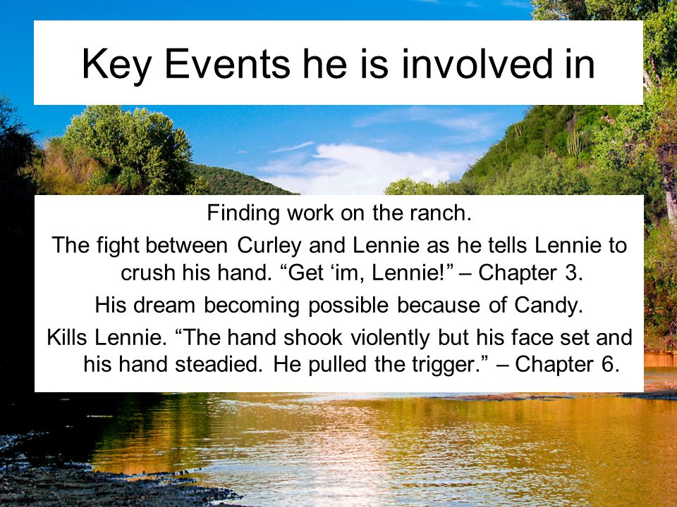 Key Events he is involved in