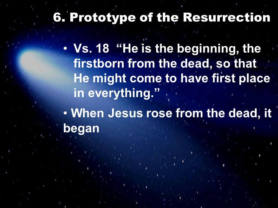 6. Prototype of the Resurrection